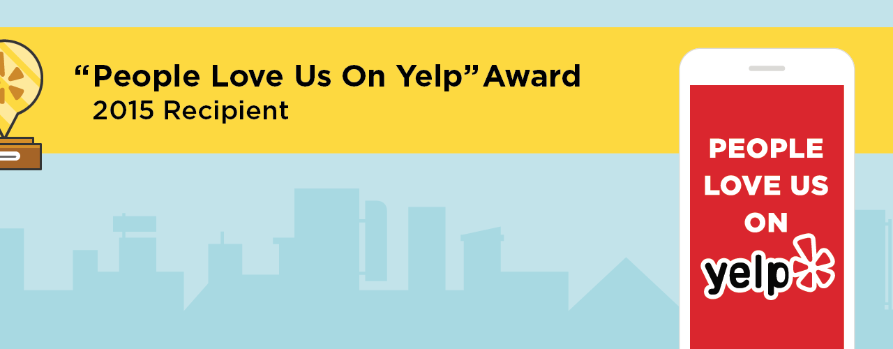 "Recieved ""People Love Us On Yelp"" 2015 Award – Orange Acupuncture"